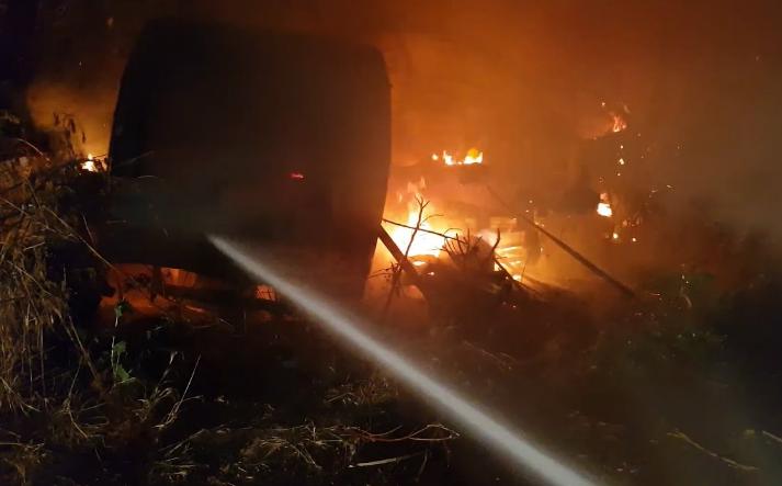 Photo of Քարաբերդ գյուղի դաշտամիջյան հատվածում ավտոմեքենա է այրվել
