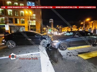 Photo of Ավտովթար՝ Երևանում. Ֆրանսիայի դեսպանատան դիմաց ճակատ-ճակատի բախվել են BMW-ն ու KIA-ն