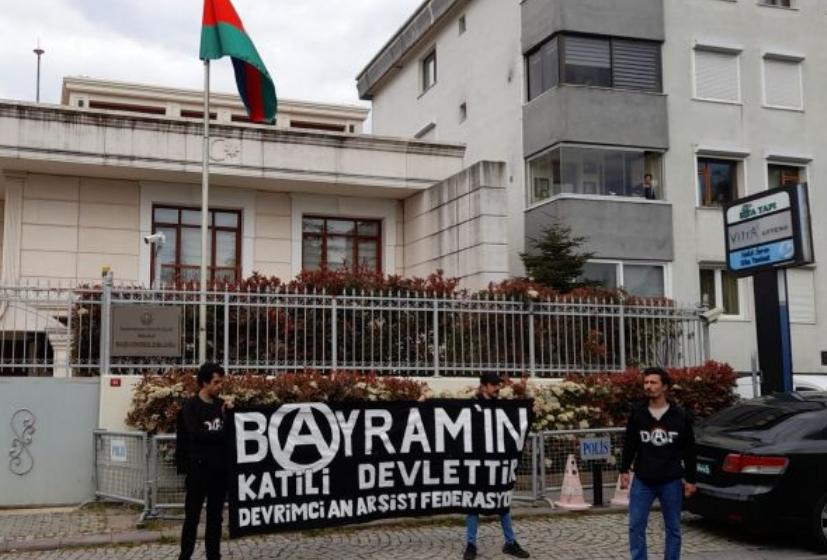 Photo of Ստամբուլում անարխիստներն Ադրբեջանի հյուպատոսության մոտ բողոքի ակցիա են անցկացրել