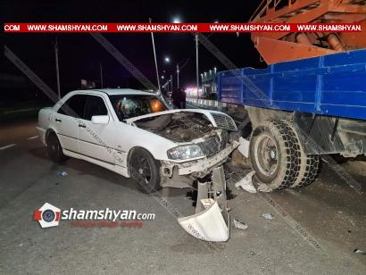 Photo of Խոշոր ավտովթար Արմավիրի մարզում. Mercedes-ը բախվել է ГАЗ 5312 մակնիշի ավտոաշտարակին. կան վիրավորներ