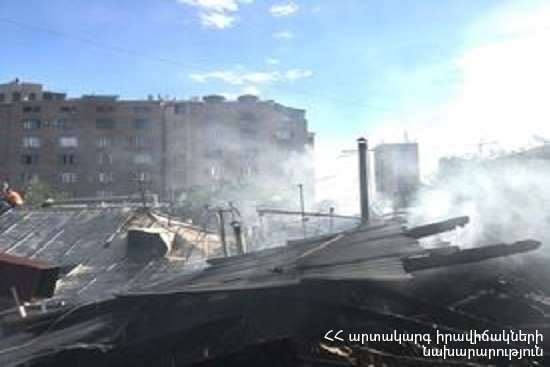 Photo of Պուշկին-Սարյան փողոցների խաչմերուկում բռնկված հրդեհը մարվել է