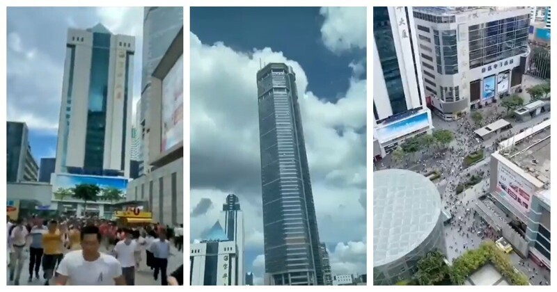 Photo of Сделано в Китае: небоскрёб затрясся и накренился