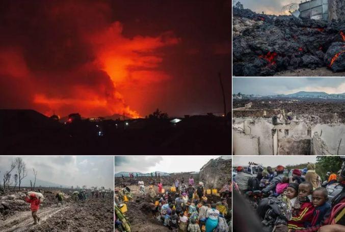 Photo of Страх повсюду: сотни тысяч людей бегут из города Гома после извержения вулкана