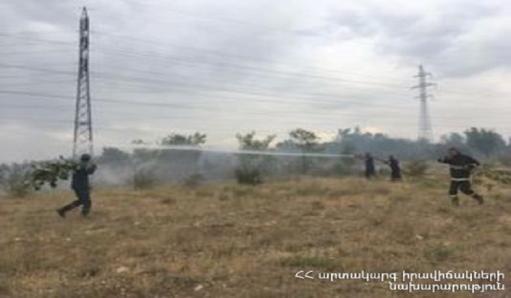Photo of «Երևան Ջէկ»-ի բուսածածկ տարածքում բռնկված հրդեհը մարվել է
