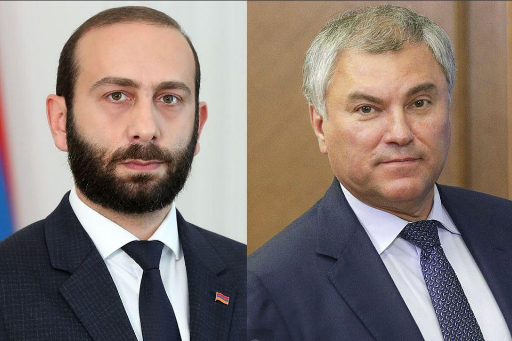 Photo of Вячеслав Володин поздравил Арарата Мирзояна с победой ГД на выборах