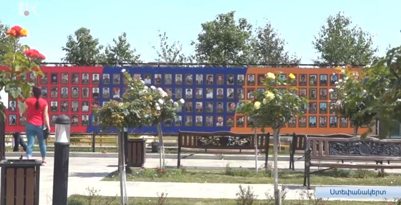 Photo of В Степанакерте установили первую мемориальную доску с фотографиями погибших в 44-дневной войне.