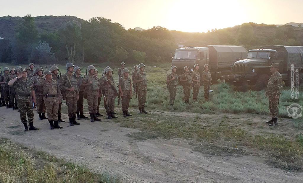 Photo of Մարտավարական զորավարժություն՝ մարտական հրաձգությամբ