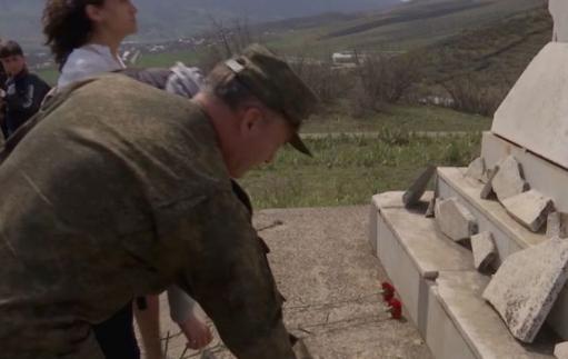 Photo of Российские миротворцы приняли участие в митинге Памяти Адмирала Флота Исакова в Нагорном Карабахе