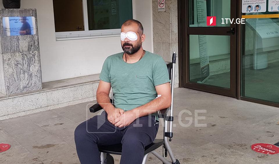 Photo of Избитый 5 июля оператор Общественного телевидения Грузии ослеп на один глаз