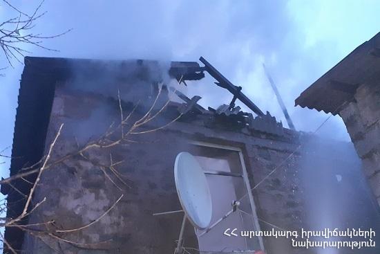 Photo of Արմավիրի մարզի Շենավան գյուղում տուն է այրվել