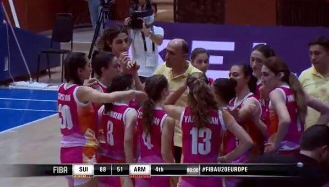 Photo of Բասկետբոլի Հայաստանի կանանց Մ-20 հավաքականը պարտվեց Շվեյցարիային