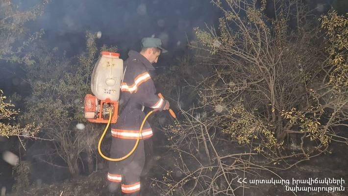 Photo of «Ջրվեժ» անտառպարկում բռնկված հրդեհը մարվել է. այրվել է 3,5 հա անտառածածկ տարածք