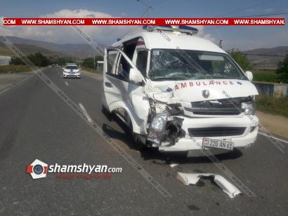 Photo of Սպիտակում բախվել են հղի կնոջը տեղափոխող շտապօգնության մեքենան և բեռնատարը. կա վիրավոր
