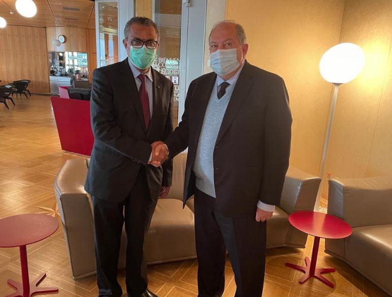 Photo of Президент Саркисян пригласил генерального директора ВОЗ в Армению