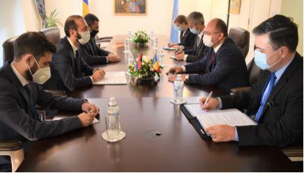 Photo of ԱԳ նախարար Արարատ Միրզոյանի հանդիպումը Ռումինիայի ԱԳ նախարար Բոգդան Աուրեսկուի հետ