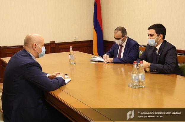 Photo of ՊԵԿ նախագահն ընդունել է ՎԶԵԲ հայաստանյան գրասենյակի ղեկավարին