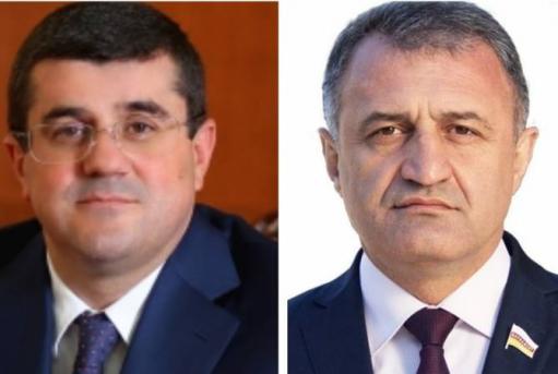 Photo of Президент Южной Осетии поздравил президента Арцаха с 30-й годовщиной образования Республики Арцах