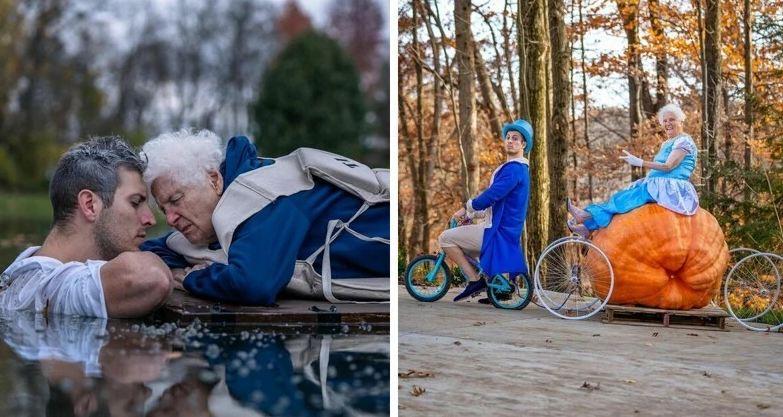 Photo of Бабушка и внук стали звездами интернета