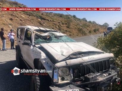 Photo of Ամբերդ ամրոցի ճանապարհին Jeep-ը վթարի է ենթարկվել և կողաշրջվել. կա վիրավոր