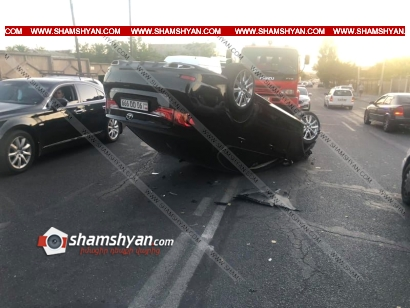 Photo of Խոշոր ավտովթար Երևանում. բախվել են Kia Forte-ն ու Lexus-ը. վերջինս գլխիվայր շրջվել է