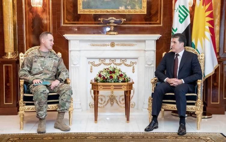 Photo of Քրդական ինքնավարության ղեկավարը հանդիպել է ամերիկացի գեներալի հետ