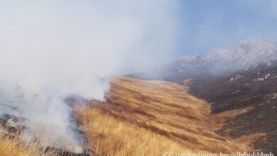 Photo of Հրդեհ Շենաթաղ գյուղի մոտակա սարալանջին