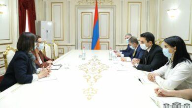 Photo of На встрече с послом Франции в Армении Ален Симонян коснулся вопроса статуса Арцаха