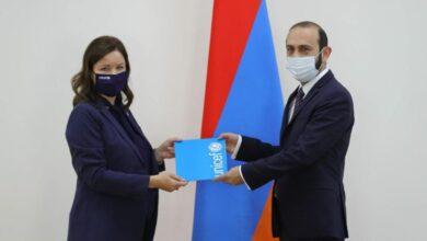 Photo of ԱԳ նախարար Արարատ Միրզոյանն ընդունել է Հայաստանում ՅՈՒՆԻՍԵՖ-ի ներկայացուցչին