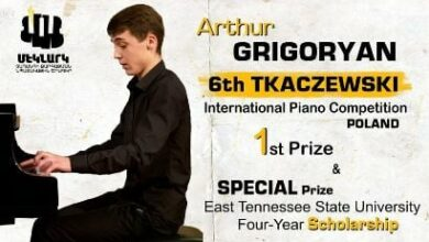 Photo of Դաշնակահար Արթուր Գրիգորյանը՝ միջազգային մրցույթի հաղթող